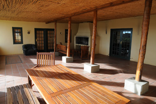 The large stoep at Grootwaterval Lodge