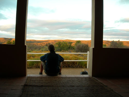 Grootwaterval Lodge - look out into the Great Karoo